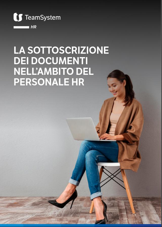 Copertina - sottoscrizione documenti ambito HR